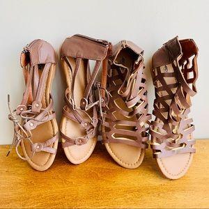 Ardene | NWOT 2 pair Brown Gladiator Strap Sandals
